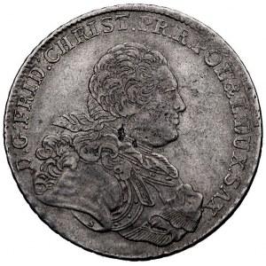 talar 1763, Lipsk, litery IFôF pod tarczą herbową, Schn...