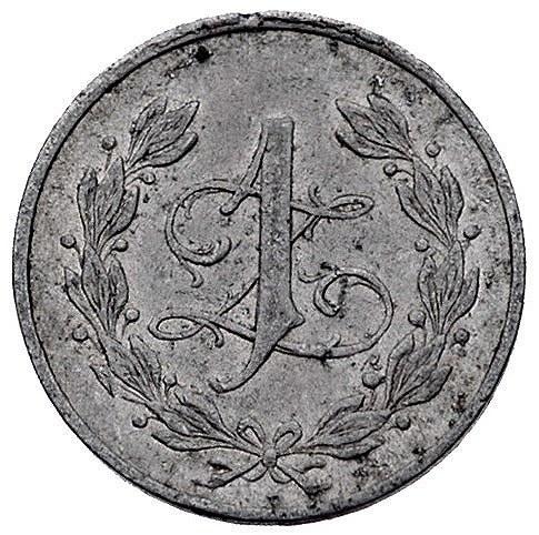 Ostróg, 1 złoty Spółdzielni 19 p. ułanów, aluminium, Ba...