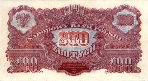 100 złotych 1944, \obowiązkowym, seria TE