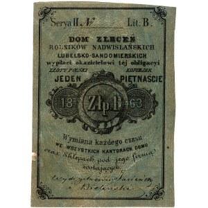 Lublin - 1 złoty = 15 kopiejek 1863, Dom Zleceń Rolnikó...