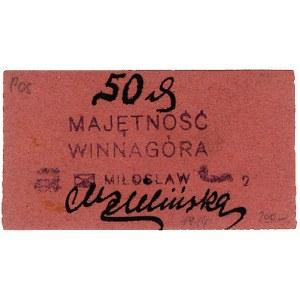 Winnagóra - Majętność, 50 fenigów (1917), Jabł. 3576, K...