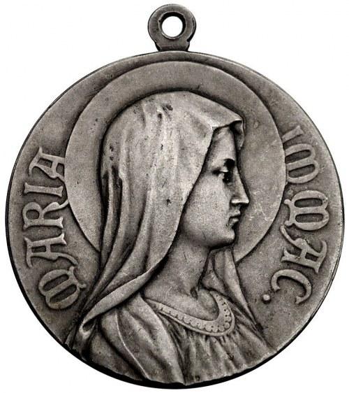 Święta Rodzina- medal srebrny, Aw: Popiersie Matki Bosk...