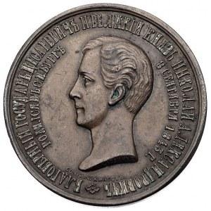medal wybity z okazji śmierci carewicza Mikołaja Aleksa...