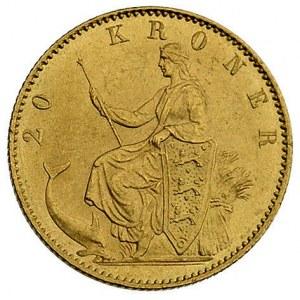 20 koron 1873, Kopenhaga, Fr. 295, złoto, 8.96 g