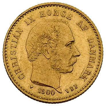 10 koron 1900, Kopenhaga, Fr. 296, złoto, 4.48 g