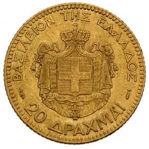 Jerzy I 1863-1913, 20 drachm 1884, Paryż, Fr. 18, złoto...