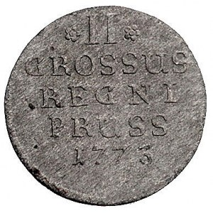 2 grosze 1773/E, Królewiec, Schrötter 1241, Olding 230
