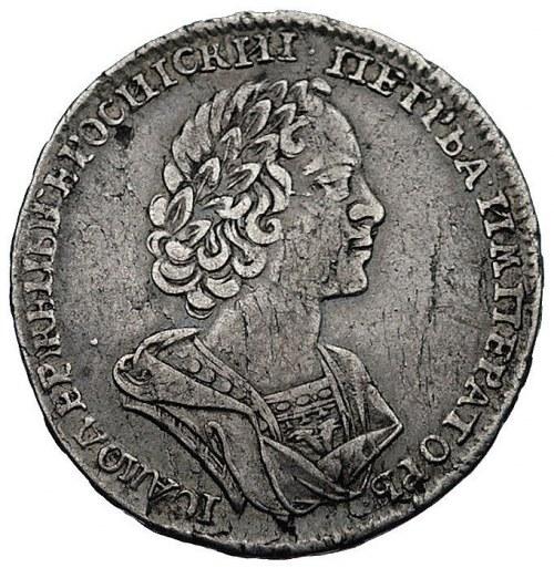 połtina 1724, Moskwa, Aw: Popiersie i napis wokoło, Rw:...