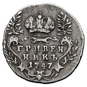 griwiennik 1747, Moskwa, Bitkin 142 (R1), Uzd. 814, rza...