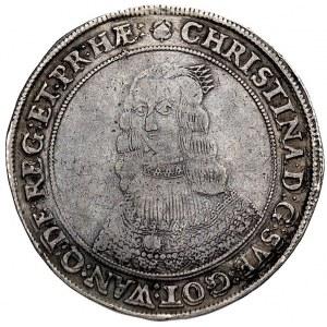 talar 1645, Sztokholm, Aw: Popiersie i napis wokoło, Rw...