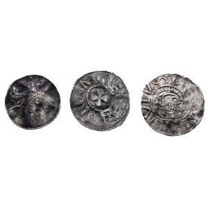 książę Bernhard II 1011-1059, denary, Dbg 585, Dbg 585b...