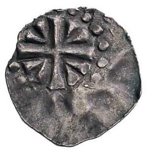 arcybiskup Poppo, denar, Aw: Krzyż z klinami, Rw: Liter...