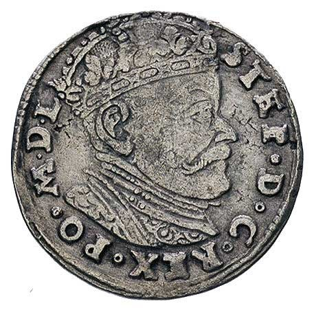 trojak 1584, Wilno, Ivanauskas 782:130, duża głowa król...