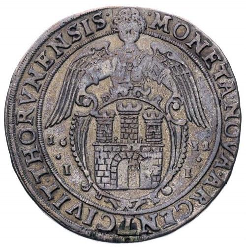 talar 1631, Toruń, na awersie koniec napisu RVS PRVS M,...
