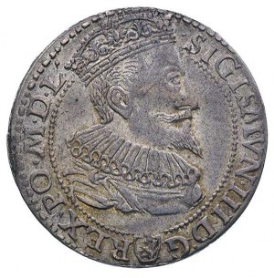 szóstak 1596, Malbork, ładna ciemna patyna