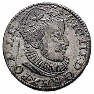 trojak 1589 Ryga, Kruggel 1, na awersie drobna wada bla...