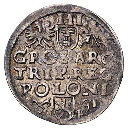 trojak 1591, Poznań, patyna