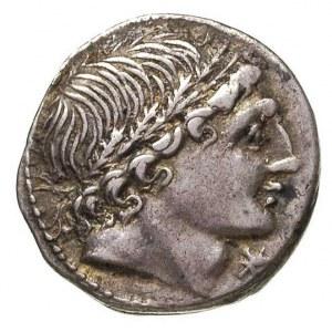 L. Memmius 109-108 r. pne, denar, Aw: Głowa w wieńcu dę...