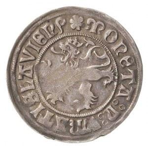 grosz bez daty (1505-1507), Wrocław, Aw: Lew czeski i n...