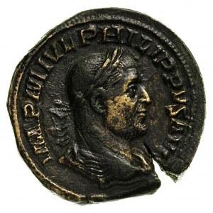Filip I 244-249, sestercja, Aw: Popiersie w prawo, Rw: ...