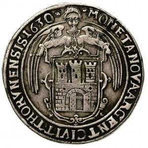 talar 1630, Toruń, odmiana z literami H-L po boku herbu...