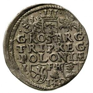 trojak 1596, Poznań, rzadsza odmiana z datą na awersie ...