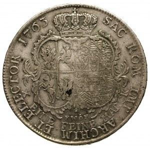 talar 1763, Drezno, odmiana z literami F W o F, Schnee ...