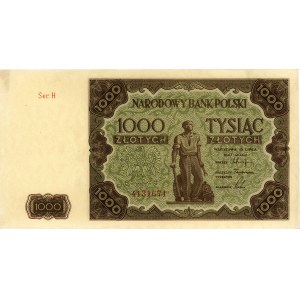 1.000 złotych 15.07.1947, seria H, Miłczak 133a