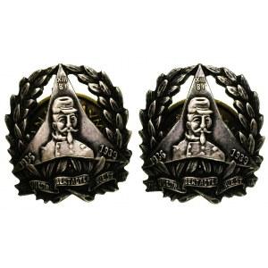 odznaka pamiątkowa Dąbrowszczaków i dwie miniaturki wra...