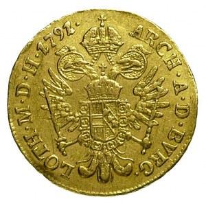 dukat 1791 / E, Karlsburg, Fr. 449, złoto 3.46 g, na aw...