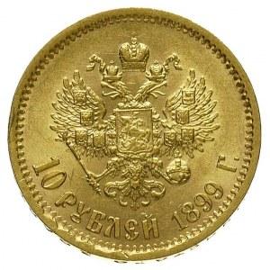 10 rubli 1899, litery Ł< rancie, Petersburg, Bitkin 5, ...