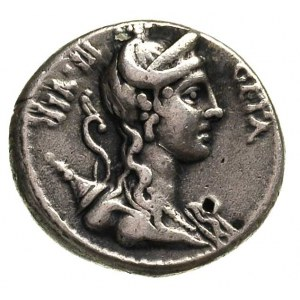 C. Hosidius C.f. Geta, 68 pne, denar, Rzym, Aw: Popiers...