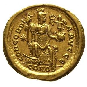 Teodozjusz II 402-450, solidus 408/420, Konstantynopol,...