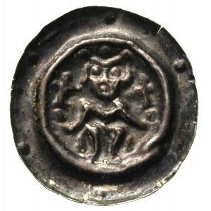 Przemysł II 1253-1278, brakteat, Władca siedzący na tro...