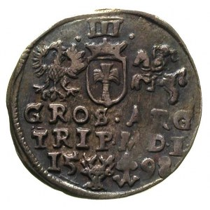 trojak 1598, Wilno, Ivanauskas 1071:215, T. 2, rzadki, ...