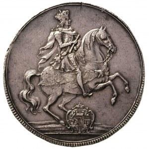 talar wikariacki 1711, Drezno, Aw: Dwa stoły i insygnia...