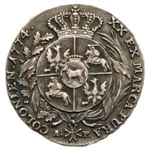 półtalar 1774, Warszawa, Plage 359, T. 18, bardzo rzadk...