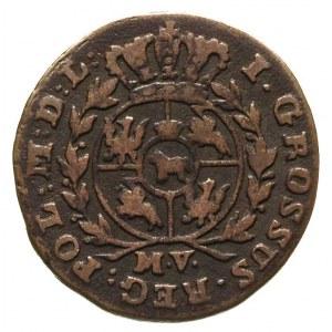 grosz 1791, Warszawa, odmiana z literami M V, Plage 134...