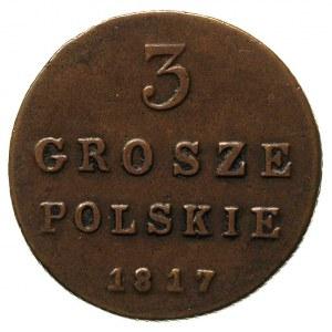 3 grosze polskie 1817, Warszawa, Plage 150, Bitkin 868