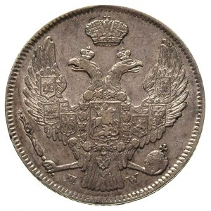 30 kopiejek = 2 złote 1838, Warszawa, dół ogona orła pr...