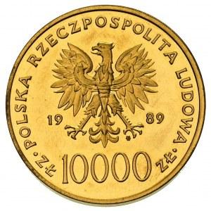 10.000 złotych 1989, Warszawa, Jan Paweł II, złoto 30.9...