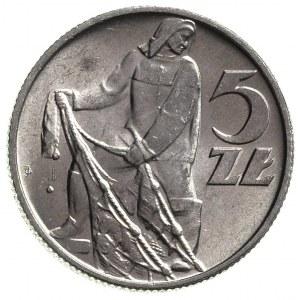 5 złotych 1960, Warszawa, Parchimowicz 220 c, piękny eg...