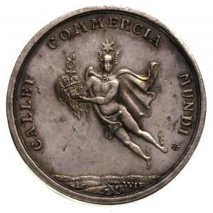 medal na przywitanie nowożeńców- królewicza Fryderyka A...