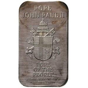 sztabka srebrna, strona główna półpostać Jana Pawła II ...