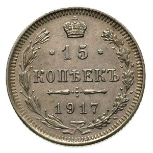 15 kopiejek 1917, Petersburg, Bitkin 144, Kazakow 525, ...