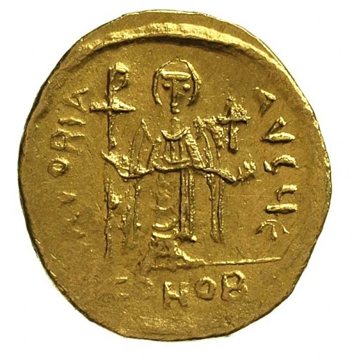 Fokas 602-610, solidus, Aw: Popiersie na wprost z prawą...