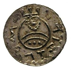 Wratysław II 1054-1061, denar, Aw: Nad podwójnym łukiem...