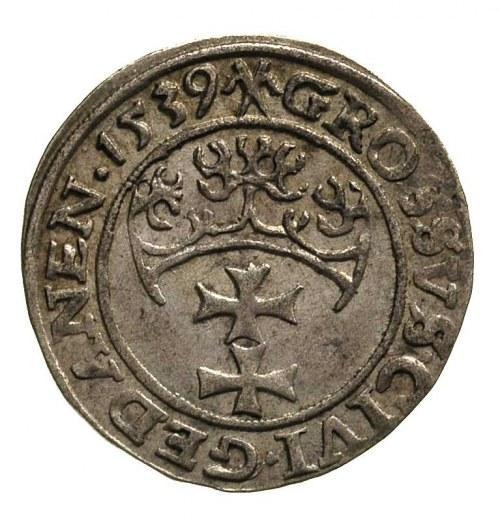 grosz 1539, Gdańsk, delikatna patyna