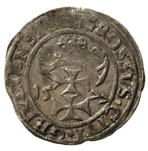 grosz oblężniczy 1577, Gdańsk, rzadziej spotykana odmia...