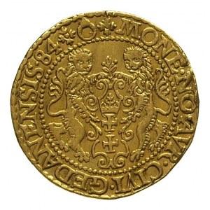 dukat 1584, Gdańsk, typ wcześniejszy bez głowy lwa na r...